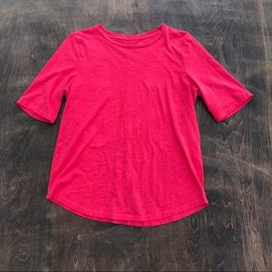 Eileen Fisher short sleeve organic cotton Tee S